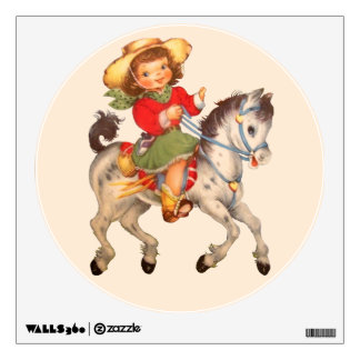 Cowgirl and Horse Wall Sticker