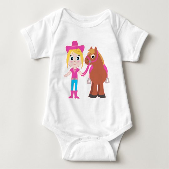 Cowgirl and Pony Baby Bodysuit