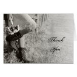 Cowgirl and Sunflowers Bridesmaid Thank You Card