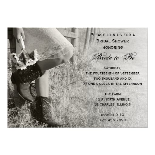 Personalized Cowboy Boots Wedding Invitations