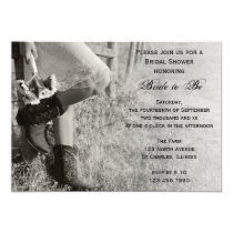 Cowgirl and Sunflowers Country Ranch Bridal Shower Invitation