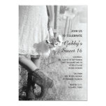 Cowgirl and Sunflowers Country Sweet 16 Party Card