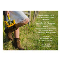 Cowgirl and Sunflowers Post Wedding Brunch Invite