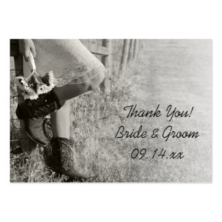 Cowgirl and Sunflowers Ranch Wedding Favor Tags Large Business Card