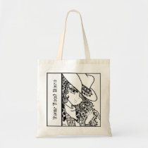 Cowgirl Anime Zendoodle Coloring Tote bag