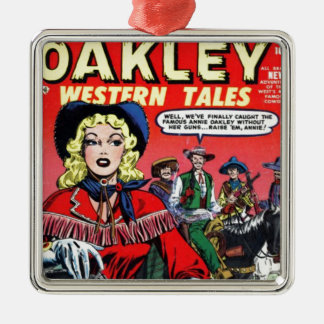 Cowgirl Annie Oakley Metal Ornament