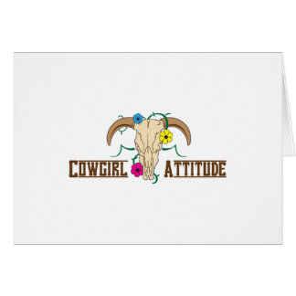 Cowgirl Attitude Card