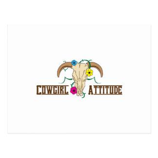 Cowgirl Attitude Postcard