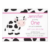 Cowgirl Baby Girl Birthday Invitations
