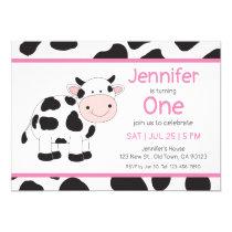 Cowgirl Baby Girl Birthday Invitations