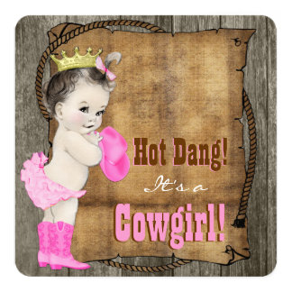 Cowgirl Baby Shower Card
