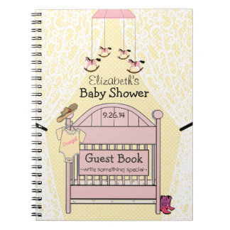 Cowgirl Baby Shower Guest Book- Notebook