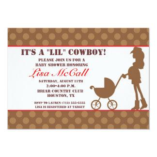 "Cowgirl Baby Shower Invitation 5"" X 7"" Invitation Card"