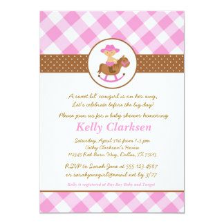 Cowgirl Baby Shower Invitation Pink Girl Western