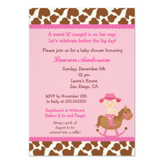 Cowgirl Baby Shower Invitations