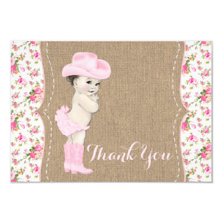 Cowgirl Baby Shower Thank You Card