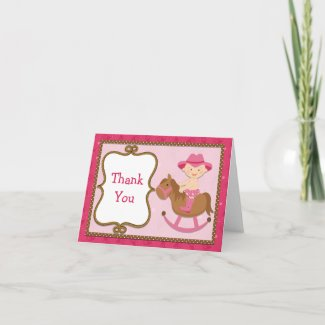 Cowgirl Baby Thank You Card zazzle_card