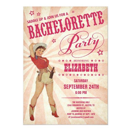 Cowgirl Bachelorette Party Invitations Zazzlecom