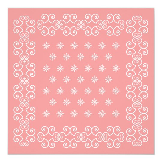 Cowgirl Bandana Pink Invitations Go Western Party