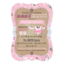 Cowgirl Bandanna Tutu Baby Shower Invitation