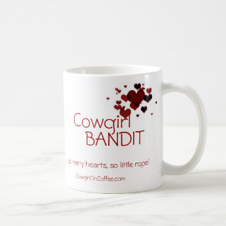 Cowgirl Bandit...so many hearts so little rope Classic White Coffee Mug