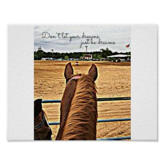 Cowgirl Barrel Racer Motivational Quote Poster