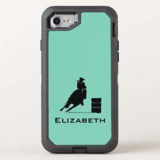 Cowgirl Barrel Racer Silhouette Rodeo OtterBox Defender iPhone 7 Case