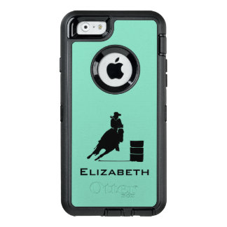 Cowgirl Barrel Racer Silhouette Rodeo OtterBox Defender iPhone Case