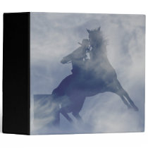 Cowgirl Barrel Racing Horse Country Western 3 Ring Binder