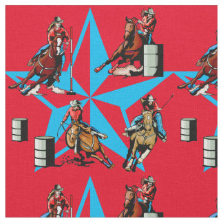 Cowgirl Barrel Racing Pole Bending Rodeo Fabric