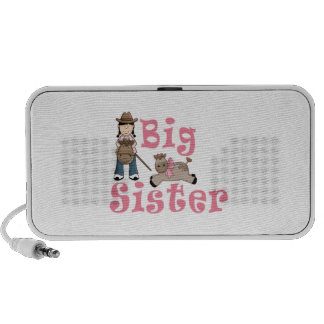 Cowgirl Big Sister Baby Girl Pony iPhone Speakers