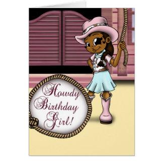 """""""Cowgirl Birthday Cards"""" Card"""
