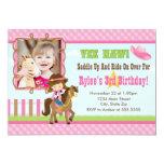 Cowgirl Birthday Invitation 5x7 Card Brunette
