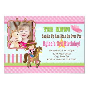 Cowgirl birthday invitations zazzle cowgirl birthday invitation 5x7 card brunette filmwisefo