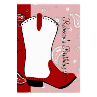 Cowgirl Boot Business Cards