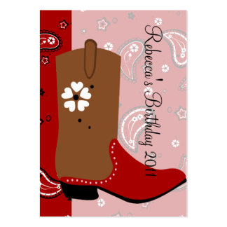 Cowgirl Boot Business Card Templates