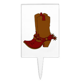 cowgirl boot cake topper