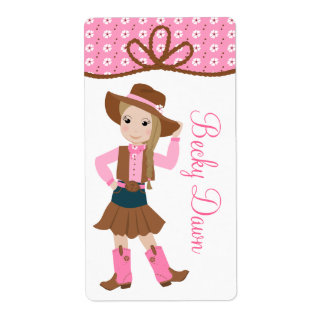 Cowgirl Boot Label