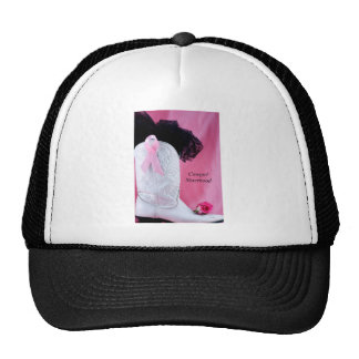 Cowgirl Boot Pink Ribbon Breast Cancer Survivor Trucker Hats