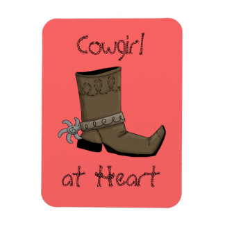 Cowgirl Boot Spur Premium Flexi Magnet