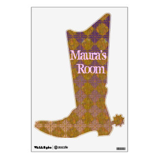 Cowgirl boot wall sticker