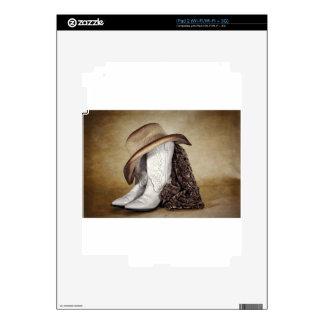 Cowgirl Boot Western Lace Hat iPad 2 Skin