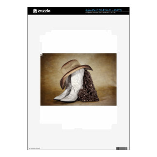 Cowgirl Boot Western Lace Hat iPad 3 Decal