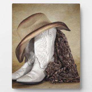 Cowgirl Boot Western Lace Hat Plaque