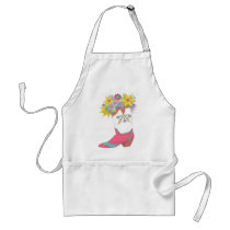 Cowgirl Boot with Flowers Adult Apron