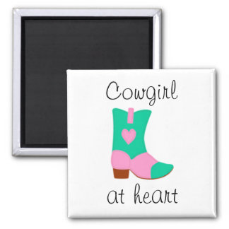 Cowgirl Boot with heart design Magnet