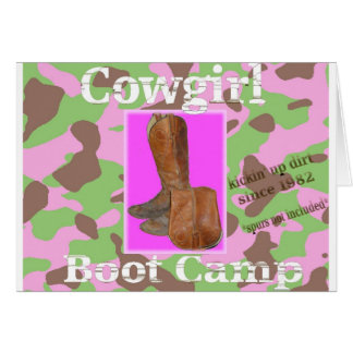 Cowgirl bootcamp card