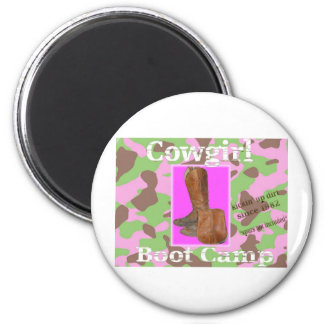 Cowgirl bootcamp refrigerator magnet