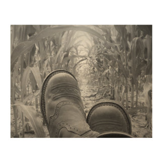"""Cowgirl Boots 10""""x8"""" Wood Wall Art"""