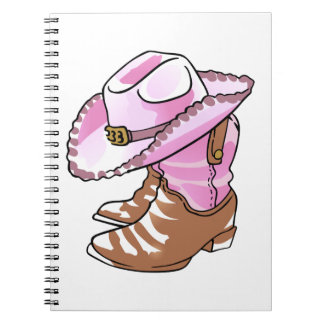 Cowgirl Boots And Hats Spiral Notebooks